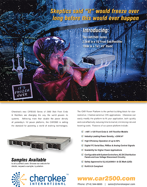 Full Page Advertisement Design for Cherokee Power